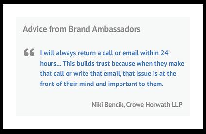 Niki Bencik quote from Crowe Horwath LLP