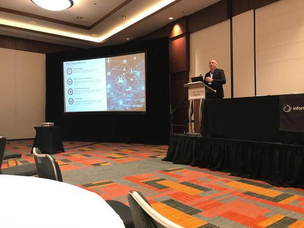 DeWayne Manning, Partner at Archbow Consulting, speaking at CBI's HUB & SPP Model Optimization conference